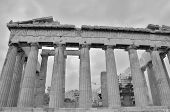 picture of parthenon  - An exterior view of the ruins of the Parthenon - JPG