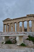 pic of parthenon  - An exterior view of the Parthenon in Athens - JPG