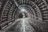 picture of tunnel  - Underground Tunnel in the Mine HDR photo techniques - JPG