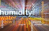 image of humidity  - Background text pattern concept wordcloud illustration of humidity glowing light - JPG