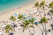 foto of waikiki  - Famous Waikiki Beach on the Hawaiian island of Oahu - JPG