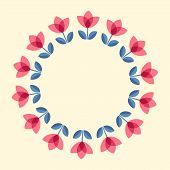 picture of scandinavian  - Scandinavian folk style flowers  - JPG