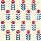 picture of scandinavian  - Scandinavian folk style flowers  - JPG