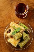 image of baklava  - Turkish arabic dessert  - JPG