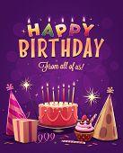 picture of birthday  - Happy Birthday greeting card - JPG