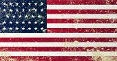 pic of civil war flags  - A grunge style Union civil war stars and stripes flag - JPG