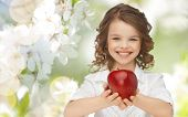 picture of healthy eating girl  - people - JPG