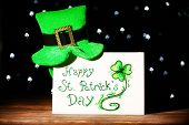 stock photo of leprechaun hat  - Greeting card for Saint Patrick - JPG