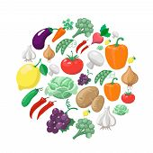 picture of vegetable food fruit  - Fruits and vegetables - JPG
