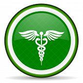 image of green snake  - emergency green icon hospital sign  - JPG