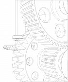 picture of bearings  - Reducer consisting of gears - JPG