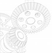 pic of bearings  - Gears with bearings and shafts - JPG