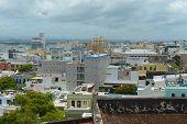stock photo of san juan puerto rico  - Old San Juan City Skyline - JPG