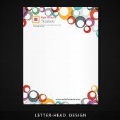 stock photo of letterhead  - letterhead vector colorful circles design illustration - JPG