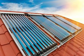 image of red roof  - Vacuum collectors - JPG
