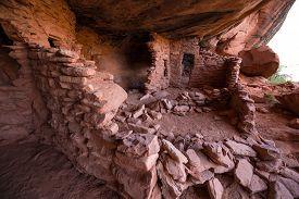 image of cave-dweller  - Castle Creek Indian Ruins near halls crossing Utah - JPG
