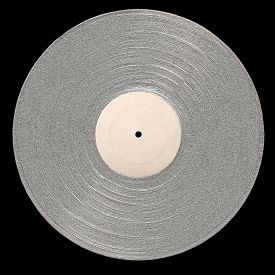 picture of lp  - LP Platinum Album with empty label for copy space on a black background - JPG