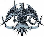 pic of armorial-bearings  - Vector illustration with eagle - JPG