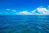 sea surface summer wave background. water landscape with clouds on horizon. Natural tropical water  poster