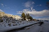 stock photo of lamar  - Yellowstone Park Wyoming in Winter Lamar Valley - JPG