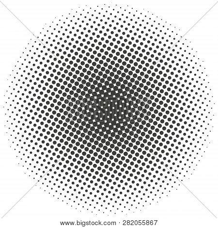 Halftone Circles Halftone Dots Pattern
