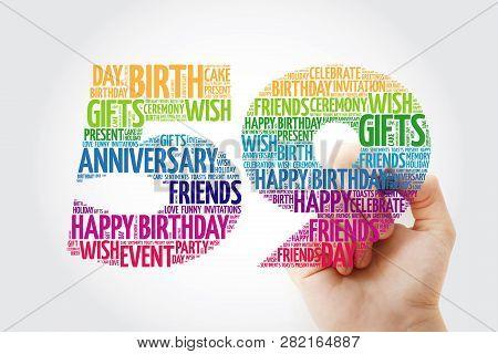 Happy 59th Birthday Word Cloud