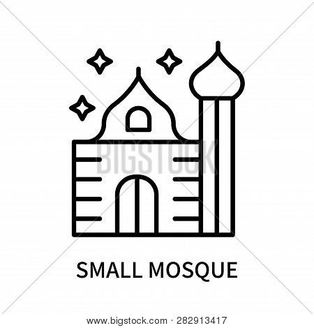 Small Mosque Icon Isolated On