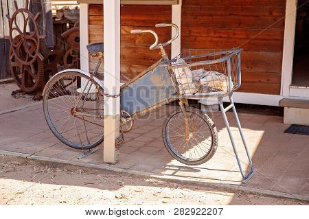 A Vintage Rusted Old Bicycle