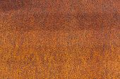 Rust On Metallic Surface. Rusted Iron Texture. Rusty Metal Background With Copy Space. Rough Oxide P poster
