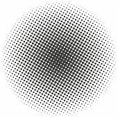 Halftone Circles, Halftone Dots Pattern. Monochrome Half-tone. Eps 10 poster