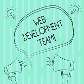 Word Writing Text Web Development Team. Business Concept For A Team Of Developers Working Towards An poster