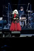 CLARK, NJ - SEPT 17: Singer Deborah Harry and drummer Clem Burke of the band Blondie perform at the