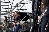 CLARK, NJ - SEPT 17: The band Nicole Atkins & The Black Sea perform at the Union County Music Fest o