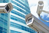 stock photo of cctv  - surveillance cameras - JPG