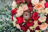 Bouquet Of Flowers. The Brides Bouquet. Bridal Bouquet. Floristics. poster