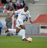 BARCELONA- SEPT 18: Julio Baptista of Real Madrid in action during  the match between Espanyol and R