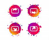 Action Icons. Share Symbols. Send Forward Arrow Signs. Gradient Circle Buttons With Icons. Random Do poster