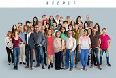 Group of Diversity People Together Set Studio Isolated poster