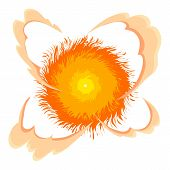 Bright Explosion Icon. Cartoon Illustration Of Bright Explosion Icon For Web On White Background poster