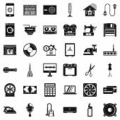 Home Appliance Icons Set. Simple Style Of 36 Home Appliance Icons For Web Isolated On White Backgrou poster