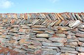 Traditional Dry Stone Wall In Devon, England poster