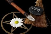 picture of wiccan  - close up of wiccan objects  - JPG