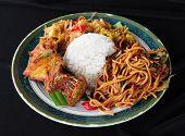 picture of nasi  - Malaysian traditional dishes called nasi ambeng - JPG