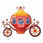 Princess Coach Icon. Cartoon Illustration Of Princess Coach Icon For Web poster