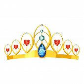 Princess Tiara Icon. Cartoon Illustration Of Princess Tiara Perfume Icon For Web poster