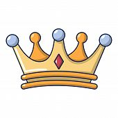 Crown Icon. Cartoon Illustration Of Crown Icon For Web Design poster
