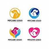 Pet Care Logo Design Template. Pet Lovo Logo Design poster