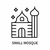 Small Mosque Icon Isolated On White Background. Small Mosque Icon Simple Sign. Small Mosque Icon Tre poster