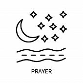 Prayer Icon Isolated On White Background. Prayer Icon Simple Sign. Prayer Icon Trendy And Modern Sym poster