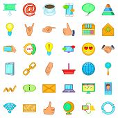 Interface Icons Set. Cartoon Style Of 36 Interface Icons For Web Isolated On White Background poster